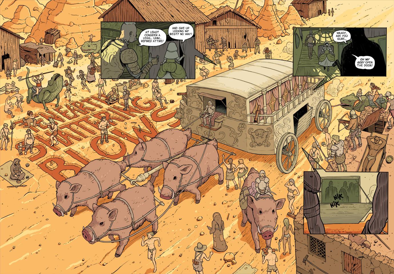 adventure is better on a boar.